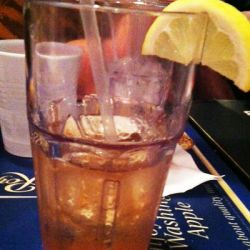 Larry's favorite drink, a long island ice tea. Costing 4.50$, the same as Larry's badge number!